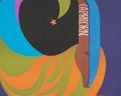 1969 Original Vintage Zodiac Poster - Capricorn