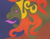 Discounted! 1969 Vintage Zodiac Poster - Leo