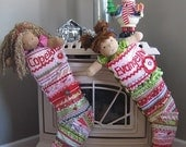 Christmas Stocking - Quilted Patchwork Boutique - custom listing for Janice, by Kat Miles