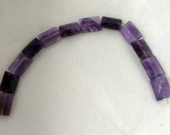 1 Dozen 15mm by 12mm Faceted Amethyst Rectangle Gemstones (280)