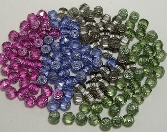 Assortment of colors 8mm Preciosa Czech Fire Polished Cathedral Glass Beads (220)