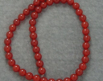 Full Strand of Red Carnelian Gemstones  8mm (412)