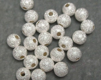 2 Dozen Silver Plated Sparkle 8mm Spacers Findings (557)