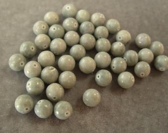 Full Strand 10mm Jade Green Moss Agate Gemstone (289)