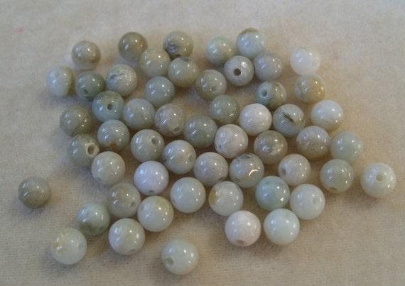 Full Strand  8mm Round Aquamarine Gemstones (286)