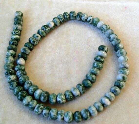 Full Strand 8mm Rondelle Tree Agates Gemstones (294)