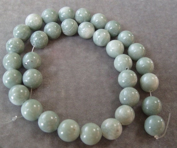 Full Strand of 12mm Jade Green Moss Agate (290)