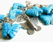 Sterling Silver and Turquoise Butterflies Necklace
