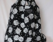 reusable shopping bag - black and white