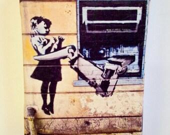 Mini Guerilla Street Art Photoprint on Canvas