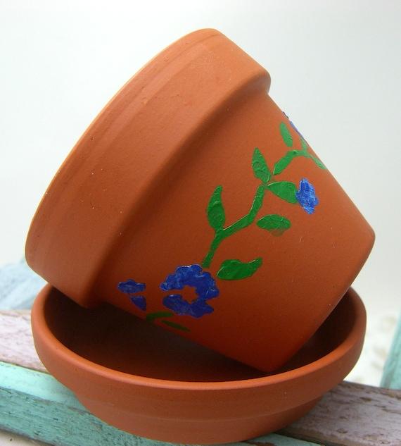 Flower Pot, Candle, Banana Cream Scent, Flower Pot Decor, Blue Flowers, Yellow Candle, Garden Theme, Patio Decor