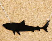 Tristan the Tiger Shark Black Acrylic Necklace