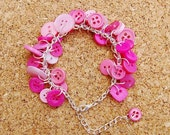 Bubblegum Upcycled Button Bracelet