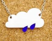 Raincloud Acrylic Necklace - Slight Seconds