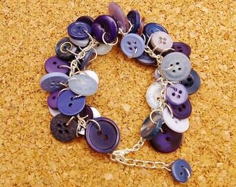 Twilight Upcycled Button Bracelet