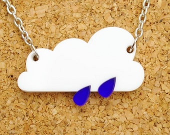 Raincloud Acrylic Necklace