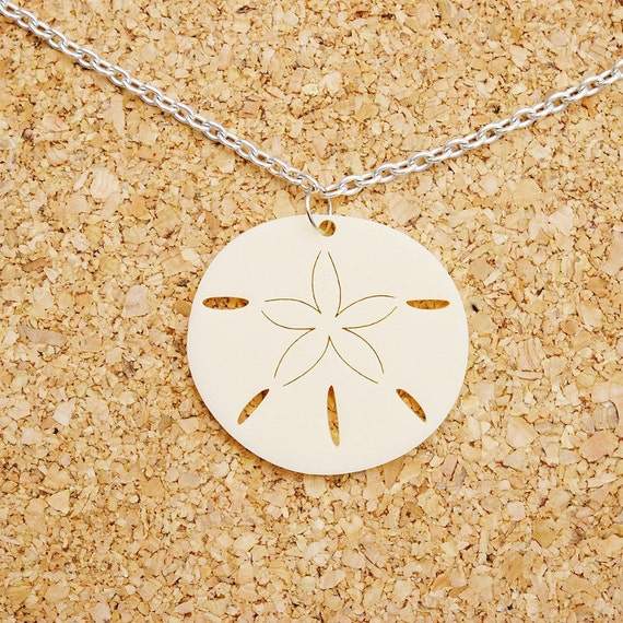 Penny the Sand Dollar Cream Coloured Acrylic Necklace