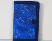 Silver and Blue Stars Sewing Organizer