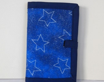 Silver Stars Needle Book, Needle Case, Hand Sewing Organizer