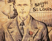Reserved for AntiqueArtGarden - Charles Lindbergh Spirit of St. Louis Tapestry 1920's