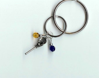 Lacrosse Keychain Team Colors