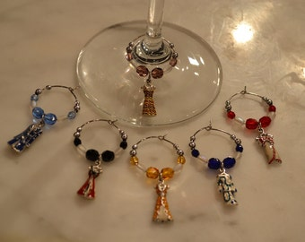 Dress Dresses Evening Gown Prom Fashion Wine Charms v2