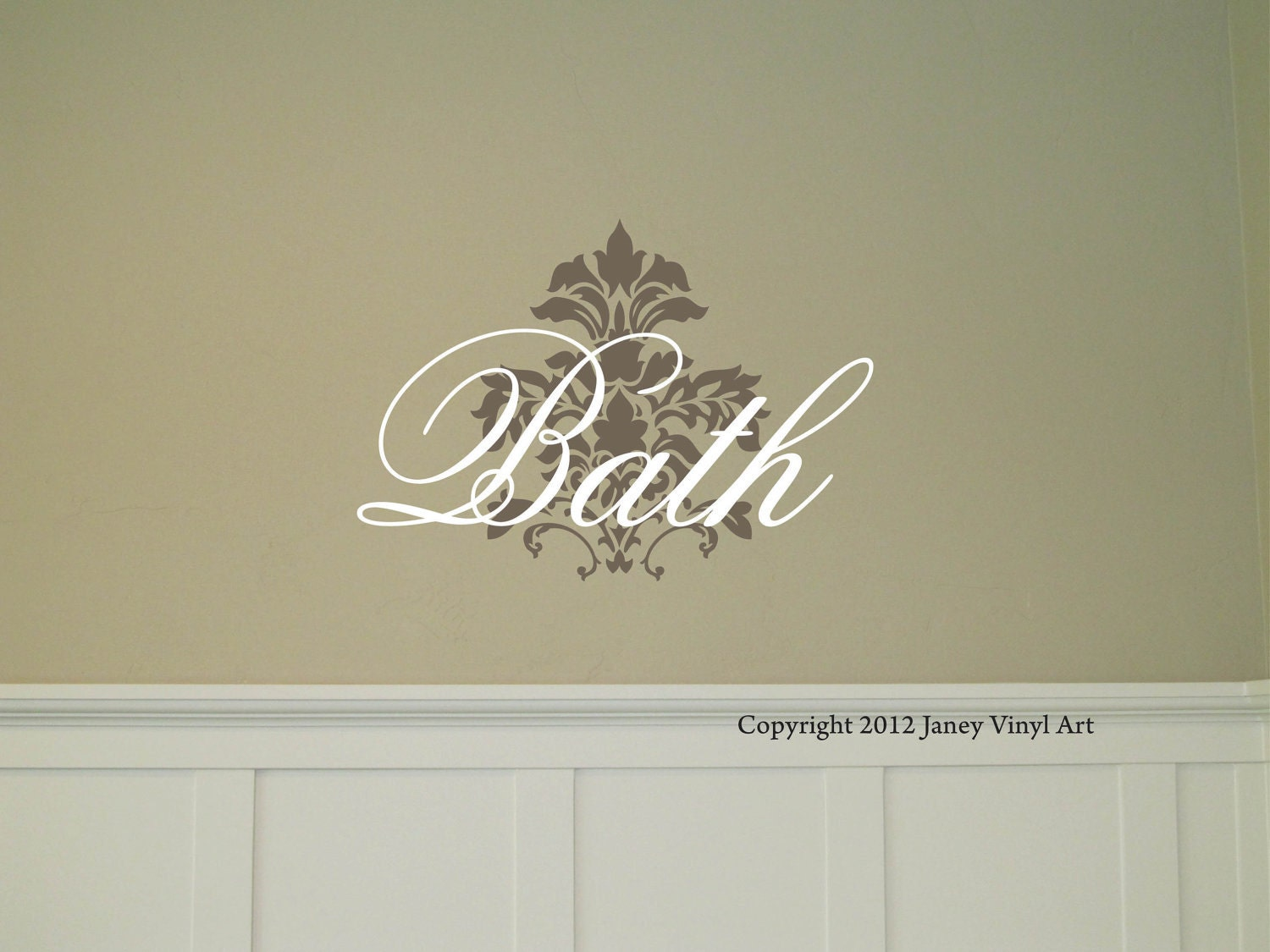 Bathroom Lettering Decor : Bath wall decal bathroom decor vinyl lettering by