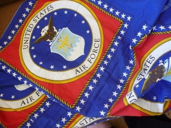 Pillow Fabric United States Air Force To Make 2 By Cowtowncuties