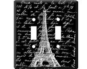 Double Light Switch Cover of Eiffel Tower