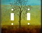 Tree of Life Double Light Switch Cover