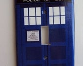 Tardis Police Box Switchplate Cover in Single Toggle Who Loves Sci Fi