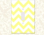 Buttercup Yellow Chevron Bar Graph Single or Double Light Switch Cover Oversized