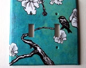 Home Decor Switchplate Double Single Light Switchplate Cover Oversized Summer Day