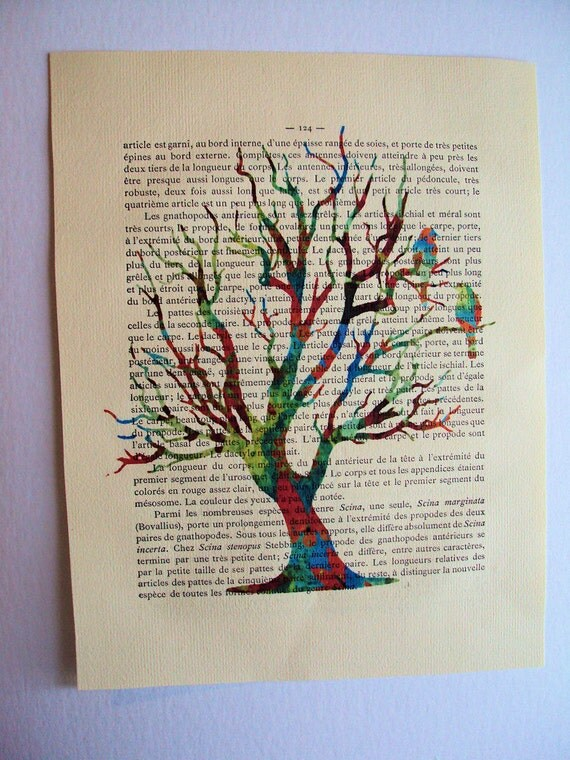 Tree of Life Untamed Print on 1900 Vintage Book Page 1st Edition 8 x 10.5