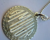 Amour vintage silver necklace personalized for weddings or anniversaries perfect keepsake pendant LOVE