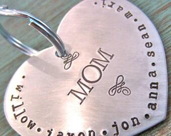 Mom's Big Heart Keychain