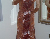 Vintage Asian Style/1950's Hawiian Print Cotton Dress