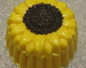 Solid chocolate sunflower fillable box