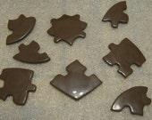 Working chocolate heart puzzle love valentine