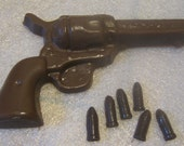 Large chocolate revolver with bullets