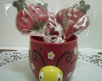 A dozen Love Bug lollipops