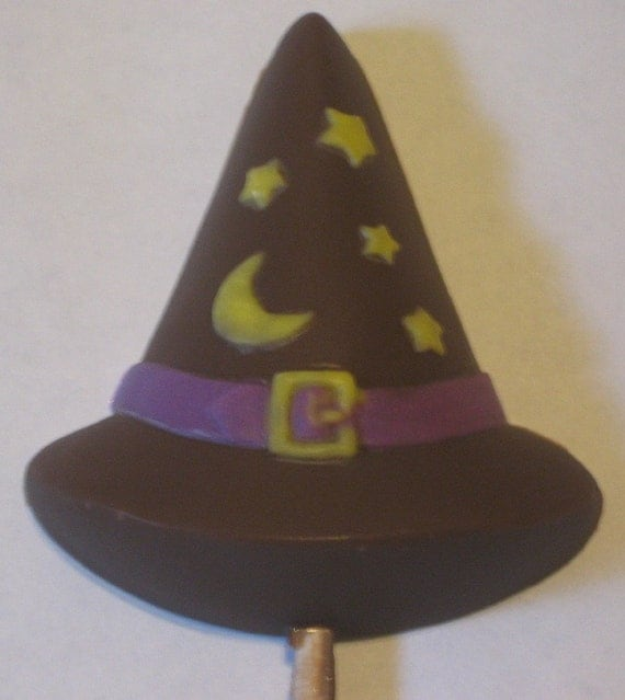 One dozen witch hat lollipops