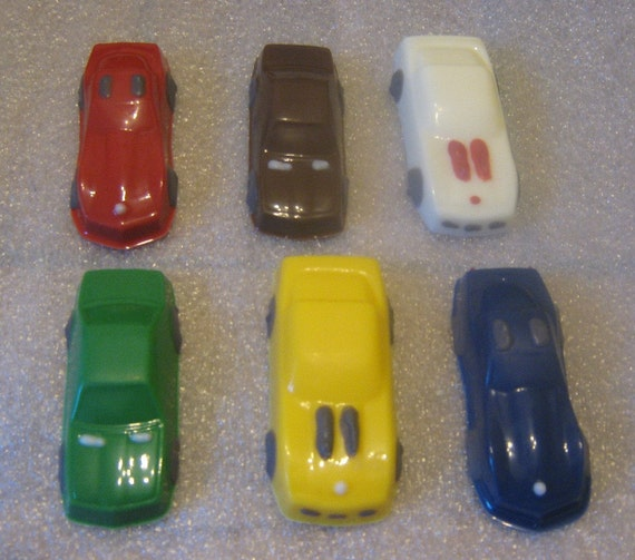 6 realistic toy car chocolate car party favors