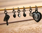 Vintage Style Stitch Markers - Set of 6