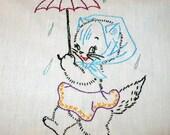 Rain Drops Keep Falling on My Head Dish Towel