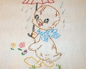 Lovely Weather for Ducks Dish Towel
