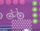 Echino Fabric by Etsuko Furuya - Bicycles Purple 1 yard