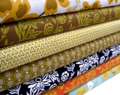 Joel Dewberry Modern Meadow Green/Orange/Blue 7 yard Fabric Bundle