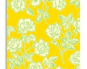 Heather Bailey Fabric - Wallpaper Roses Gold from Pop Garden Collection 1/2 yard
