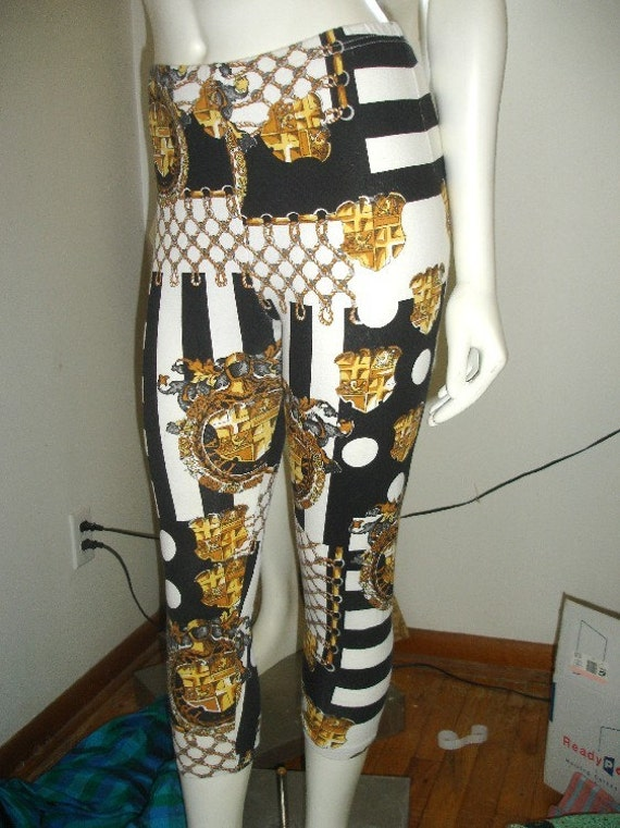 Vintage CHANEL inspired Leggings Size Small
